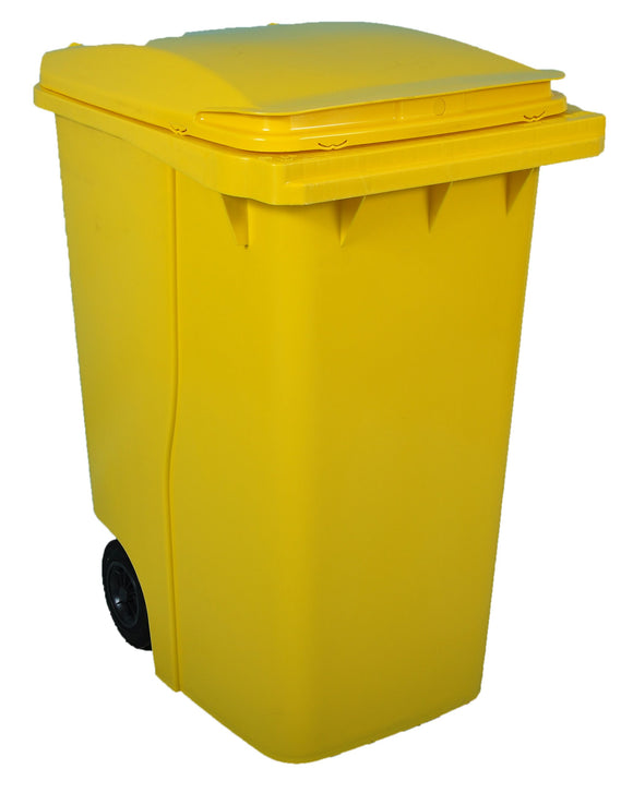 Empty Wheelie Bin (yellow) 360 Litre