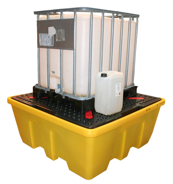 IBC Spillpallet with removable deck. Stackable