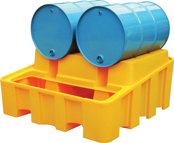 Yellow base unit for 2 x 205L drums