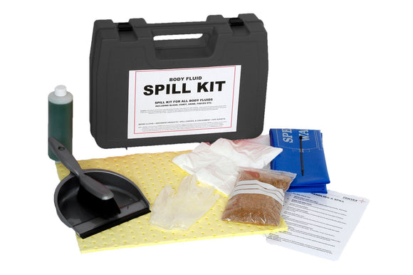 Body Fluid Spill Kit in Hard Carry Case