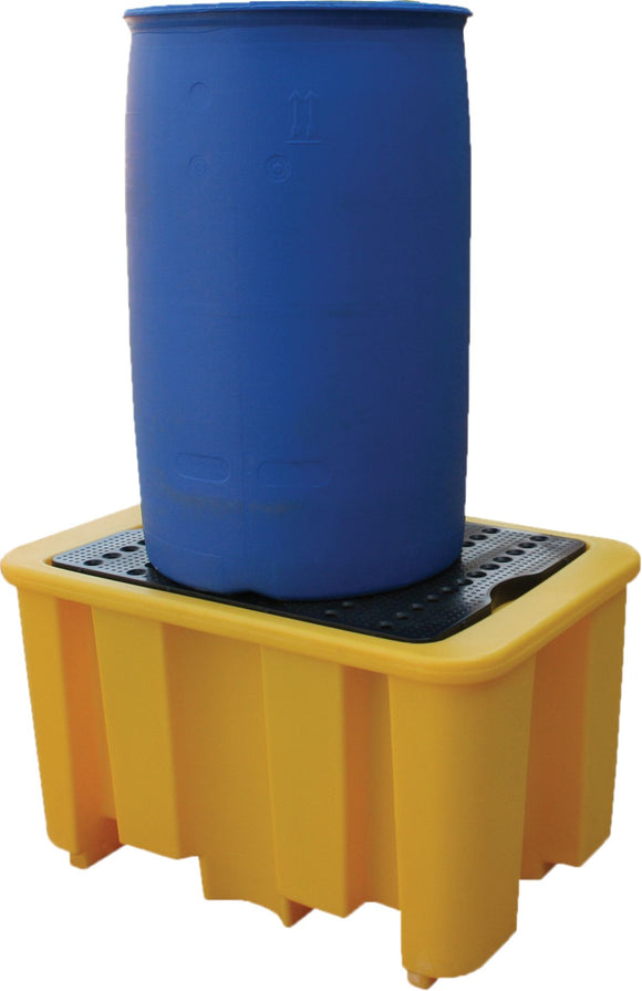 Spillpallet for 1 x 205L drum - Yellow