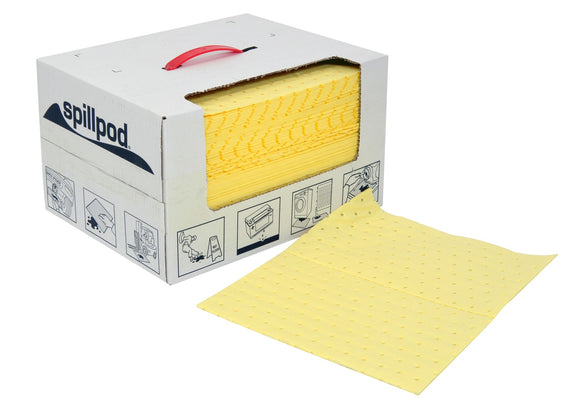 75 Chemical absorbent pads - Disp. box