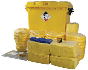 Chemical Spill Kit - Wheeled Bin