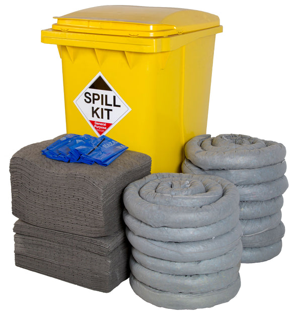 General Purpose Kit - Yellow Wheelie Bin