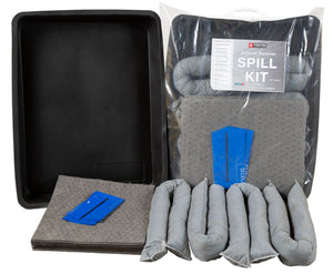 40 Litre General Purpose Spill Kit in Clip-close bag complete with Flexi-Tray.