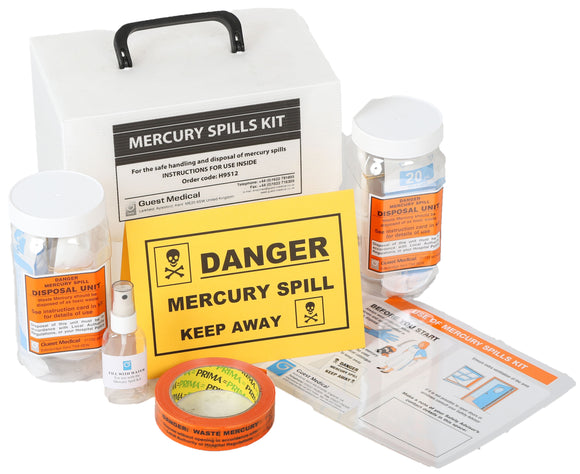Mercury Spill Kit in Plastic Case