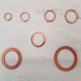 metric copper washers