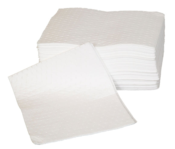 Poly Pack Of 100 Double Weight Oil And Fuel Spill Pads