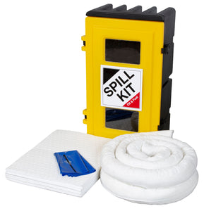 Oil & Fuel Spill Kit in Wall Cabinet