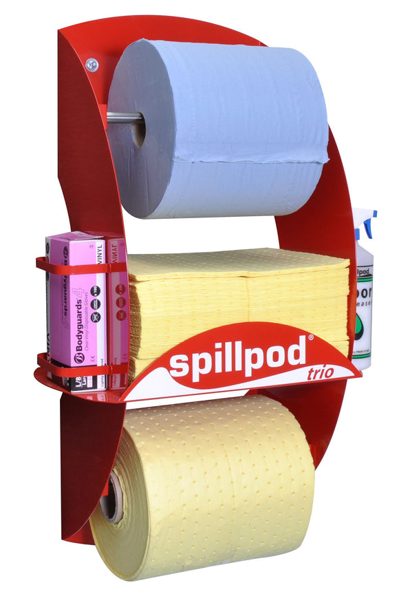 Refill Pack: Blue paper roll, 75 absorbent pads and Quick-Rip absorbent roll