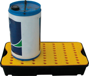 Medium spill tray with removable grid