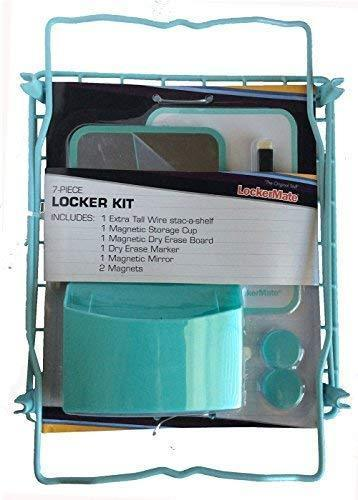 Results lockermate 7 piece tall wire locker kit with magnets mirror dry erase board storage cup dry erase marker school supplies mist green