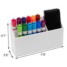 Load image into Gallery viewer, Online shopping the most sturdy hanging organizer with powerful suction cups and 3 compartments for storage for your locker whiteboard fridge and office accessories