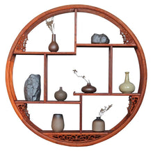Load image into Gallery viewer, Selection floating shelf wooden circle floating shelf wall unit with shelving storage display locker wall mounted retro antique shelf home decor