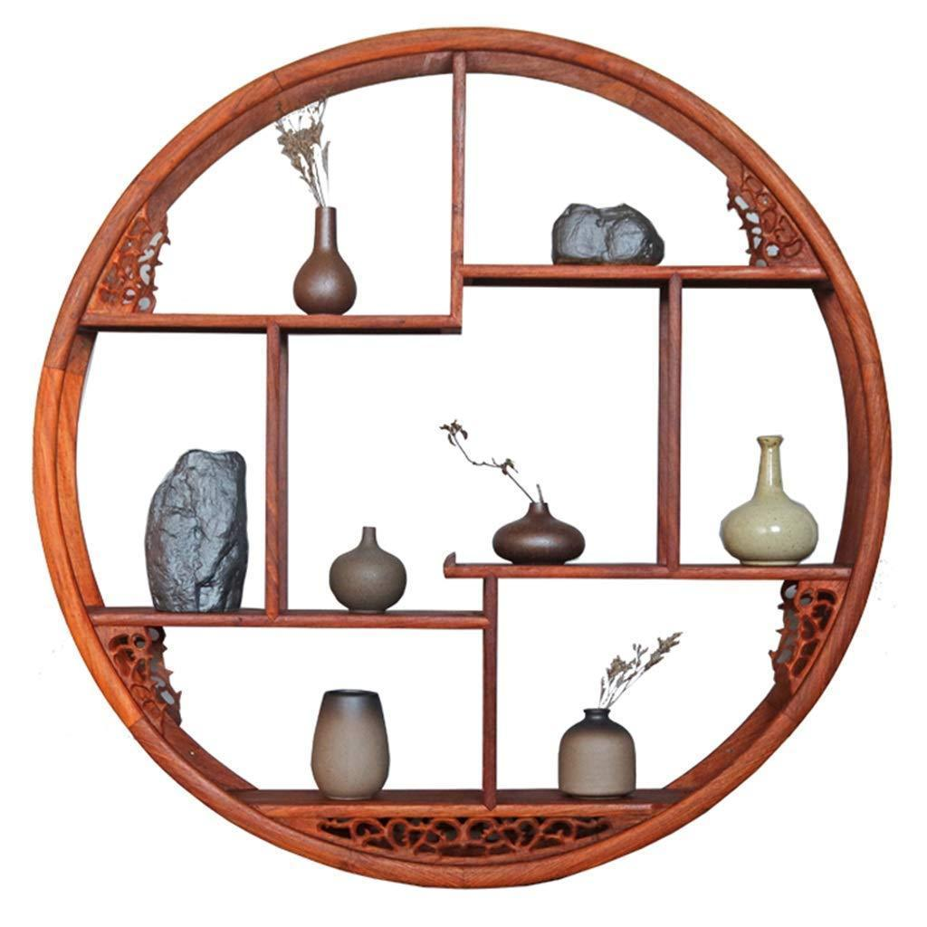 Selection floating shelf wooden circle floating shelf wall unit with shelving storage display locker wall mounted retro antique shelf home decor
