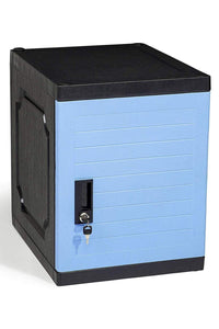 Latest jink locker lockable storage cabinet 19 with keys great for kids home school office or outdoor toy box footlocker bedside dresser nightstand sports or gym blue