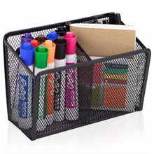 Load image into Gallery viewer, Cheap workablez magnetic pencil holder 2 generous compartments magnetic storage basket organizer extra strong magnets perfect mesh pen holder to hold whiteboard locker accessories