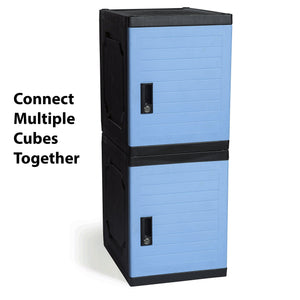 Order now jink locker lockable storage cabinet 19 with keys great for kids home school office or outdoor toy box footlocker bedside dresser nightstand sports or gym blue