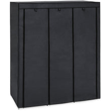 Load image into Gallery viewer, 9-Shelf Portable Fabric Closet w/ Cover and Adjustable Rods - Black