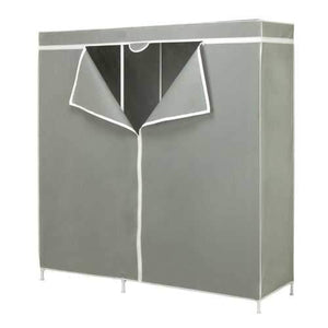60-inch Grey Portable Closet Clothes Organizer Wardrobe
