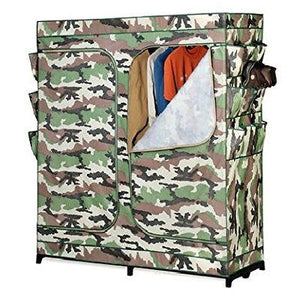 60-inch Camo Portable Closet Clothes Organizer Wardrobe