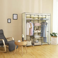 "Load image into Gallery viewer, 69"" Portable Wardrobe Home Closet Organizer"