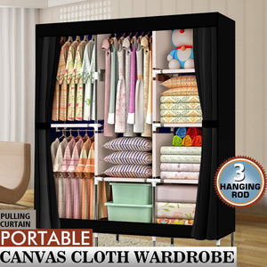 "71"" Portable Closet Wardrobe Storage Organizer"