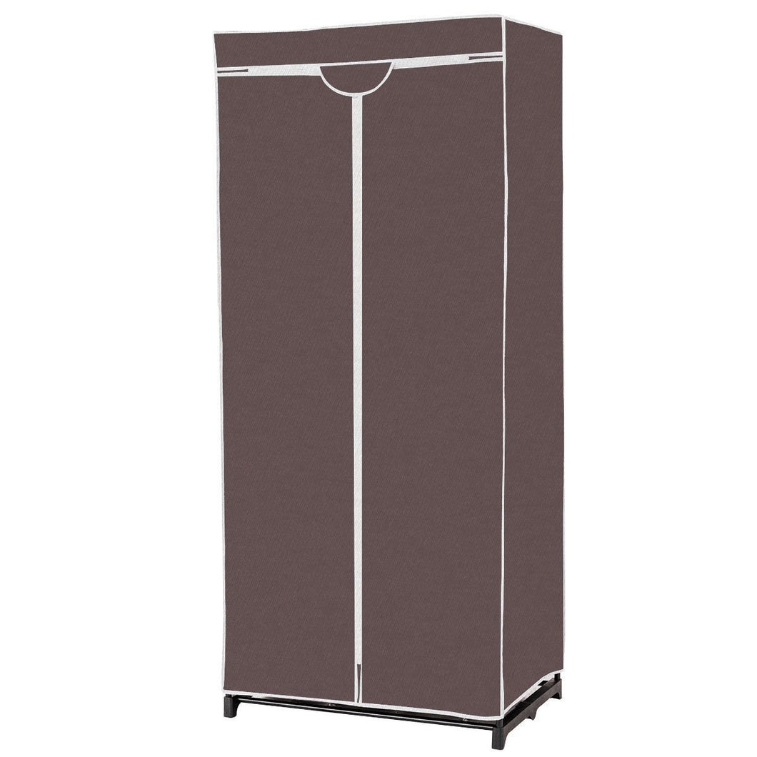 Non-woven Fabric Wardrobe Storage Portable Clothes Closet-Brown