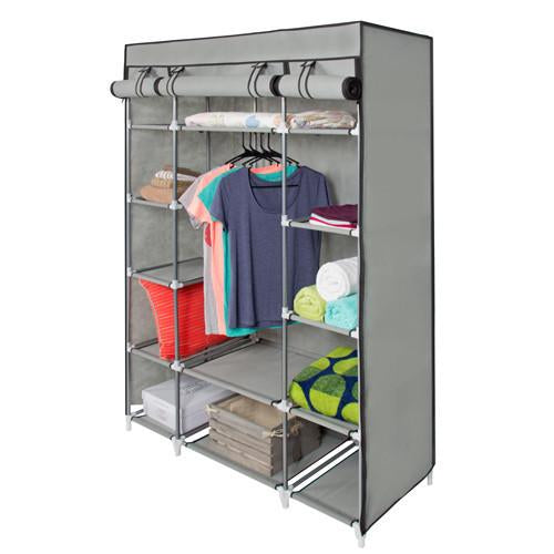 "53"" Portable Wardrobe Closet With Shelves"