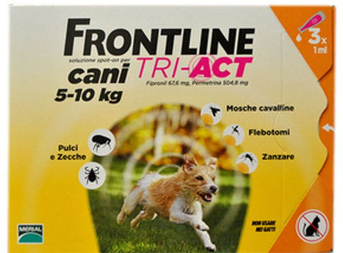 Frontline TRI-ACT Spot-on Cani 5-10 kg