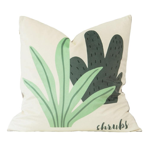 Shrubs Velvet Pillow Cover 18