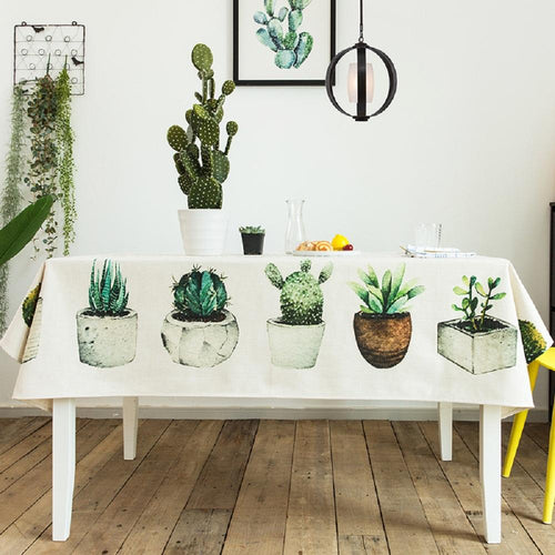 Succulent Plants Indoor / Outdoor Tablecloth