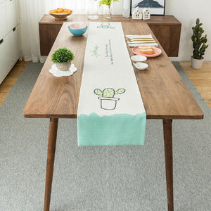 Cute Cactus Table Runner