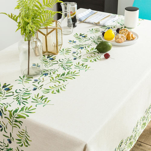 Olive Leaves Indoor / Outdoor Tablecloth