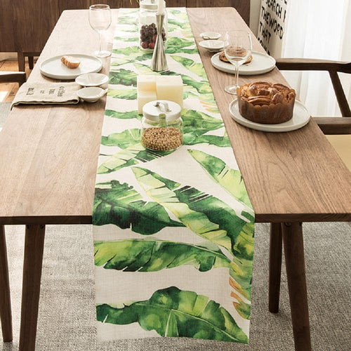 Banana Leaves Table Runner