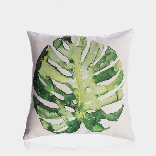 Monstera Leaf Pillow Cover 18