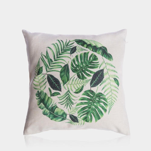 Green Leaves Pillow Cover 18
