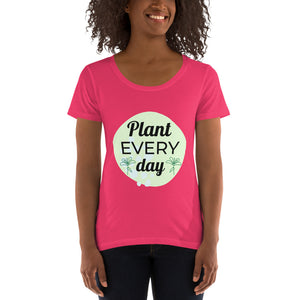 Ladies' Scoopneck T-Shirt Plant Every Day