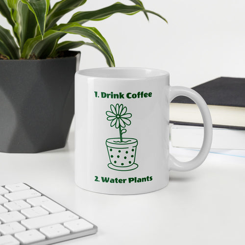 Drink Coffee Water Plants Mug