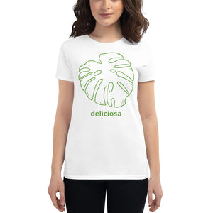Women's Short Sleeve T-Shirt Monstera Deliciosa