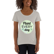 Load image into Gallery viewer, Ladies' Scoopneck T-Shirt Plant Every Day