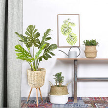 Load image into Gallery viewer, Wicker Bamboo Floor Plant Stand