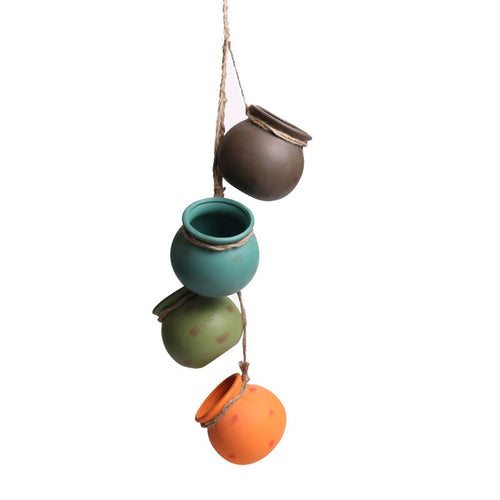 Hanging Ceramic Planters Pot Set & Rope