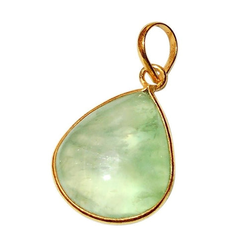 Gold-overlay Prehnite Necklace