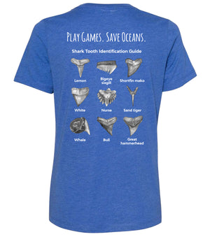 Ladies Shark Tooth Identification T-Shirt