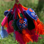 Embroidered Felt Keyring Skull Various Colours