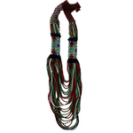 Beaded necklace green vino - Mostacilla
