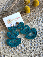 Handwoven Iraca Lunas Earrings