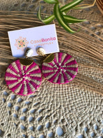Handwoven, ethical, vegan, colombia, culture, empowering, empower, women, slow fashion, fairtrade, ethical buy, trend, light earrings