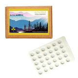Siberian Shilajit Tablets. Purified Altai Shilajit Mumijo Мумие Tablets 200 mg from Altai Mountains, Siberia, Russia.